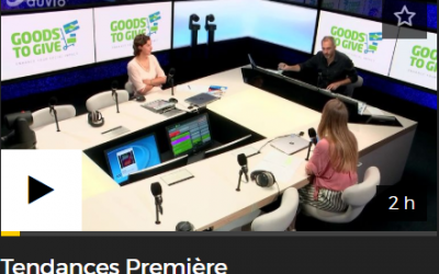 Radio interview during the show Tendances Premère – RTBF – 9/8/2019