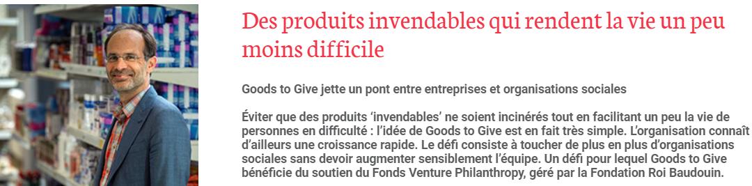 """""""Des produits invendabls qui rendent la vie un peu moins difficile."""" – FRB, 17/10/2019"""